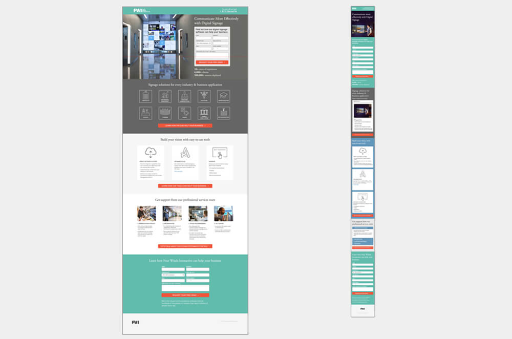 Website redesign, CRO campaign, improved lift